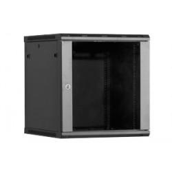 Linkbasic szafa wisząca rack 19'' 15U 600x600mm czarna (drzwi przednie szklane)